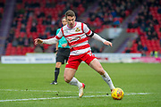 Doncaster Rovers Midfielder Tommy Rowe (10) in action during the EFL Sky Bet League 1 match between Doncaster Rovers and Bristol Rovers at the Keepmoat Stadium, Doncaster, England on 27 January 2018. Photo by Craig Zadoroznyj.