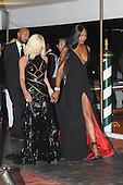 Donatella Versace and Naomi Campbell in Venice