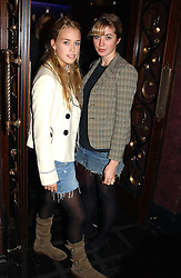 Left to right, MARY CHARTERIS and MISS ANOUSKA GERHAUSER daughter of Tamara Beckwith at a party to celebrate a new collection of sexy underware by Janet Reger called 'Naughty Janet' held at 5 Cavendish Square, London on 19th October 2004.<br />