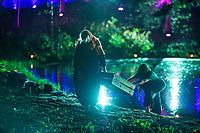 )))((( Visual Festival, 21. - 23.9.2018, Botania, Joensuu Finland. María Ellingsen and Rasia Foster doing a Dance Improvisation to Kari Kola's light Installation.