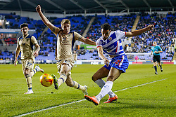 Nick Blackman of Reading crosses as Scott Wootton of Leeds United challenges - Photo mandatory by-line: Rogan Thomson/JMP - 07966 386802 - 10/02/2015 - SPORT - FOOTBALL - Reading, England - Madejski Stadium - Reading v Leeds United - Sky Bet Championship.