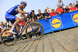 Zdenek Stybar (CZE) Deceuninck-Quick Step climbs the Paterberg for the last time during the 2019 Ronde Van Vlaanderen 270km from Antwerp to Oudenaarde, Belgium. 7th April 2019.<br /> Picture: Eoin Clarke | Cyclefile<br /> <br /> All photos usage must carry mandatory copyright credit (© Cyclefile | Eoin Clarke)