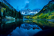 Maroon Bells in September, Aspen, Colorado.