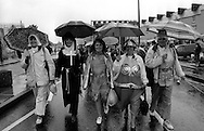 Thurcroft canteen fancy dress entrants. 1991 Yorkshire Miners Gala. Doncaster.