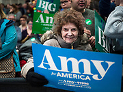 01 MARCH 2020 - ST. LOUIS PARK, MINNESOTA: Supporters of US Senator Amy Klobuchar wait for her to come into a rally at St. Louis Park High School. Dozens of Black Lives Matter (BLM) protesters disrupted Sen. Amy Klobuchar's last presidential election rally in Minnesota before Super Tuesday. Almost 500 Klobuchar supporters came to hear Sen. Klobuchar, when the BLM protesters marched into the hall and took control of the stage. Klobuchar cancelled the event about an hour after the BLM protesters entered the hall. The protesters targeted Klobuchar because while she was the Hennepin County Attorney, she oversaw the conviction of Myon Burrell, a black teenager accused and convicted of murder. Evidence has come to light since his conviction that suggests he was wrongly convicted. His conviction has become a flashpoint in Minnesota politics.         PHOTO BY JACK KURTZ