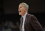 Southern California Trojans head coach Andy Enfield reacts against the Western Kentucky Hilltoppers during an NCAA college basketball game in the second round of the NIT tournament in Los Angeles, Monday, Mar 19, 2018. WKU defeated USC 79-75.