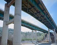 Interstate-91 Bridge Near Mt. Ascutney, Vermont.