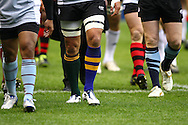 The Barbarians odd socks of their home clubs seen during the match between between the Barbarians and South Africa at Twickenham, London, on Saturday 4th December 2010. (Photo by Andrew Tobin/SLIK images)