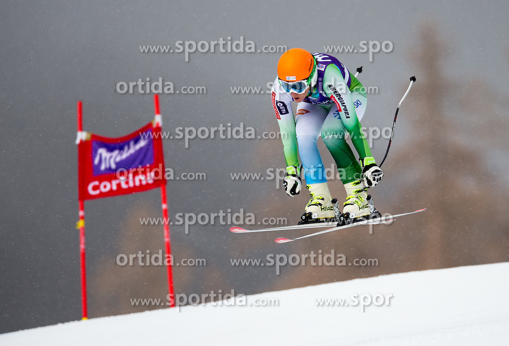 16.01.2015, Olympia delle Tofane, Cortina d Ampezzo, ITA, FIS Weltcup Ski Alpin, Abfahrt, Damen, im Bild Vanja Brodnik (SLO) // Vanja Brodnik of Slovenia in action during the ladie's Downhill of the Cortina FIS Ski Alpine World Cup at the Olympia delle Tofane course in Cortina d Ampezzo, Italy on 2015/01/16. EXPA Pictures © 2015, PhotoCredit: EXPA/ Johann Groder
