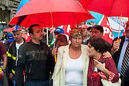 Roma 28 Settembre 2012.Sciopero generale dei servizi pubblici contro la spending review e i tagli del Governo Monti,indetto dai sindacati CGIL e UIL. Susanna Camusso, segretario generale CGIL