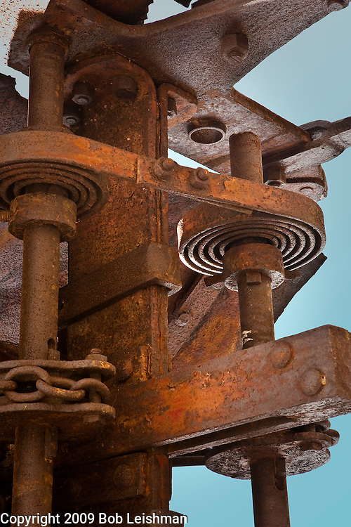 Springs on ore crusher