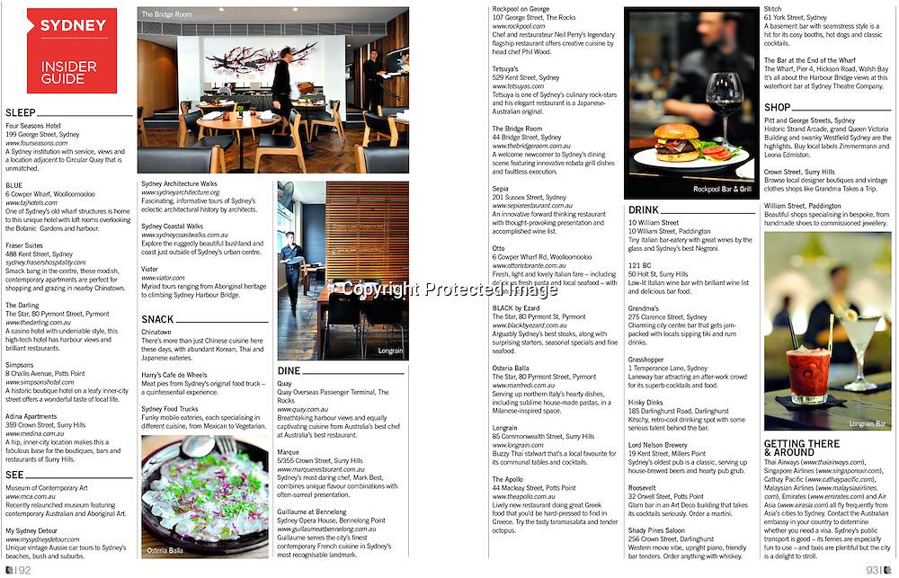 Lifestyle+Travel Magazine feature on Sydney.