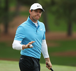 April 7, 2018 - Augusta, GA, USA - Rory Mcllroy after his par on the 7th hole during the third round of the Masters Tournament on Saturday, April 7, 2018, at Augusta National Golf Club in Augusta, Ga. (Credit Image: © Jason Getz/TNS via ZUMA Wire)