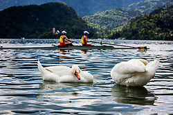 During semi finals of Rowing World Cup on May 9, 2015, at Bled's lake, Bled, Slovenia. (Photo by Grega Valancic / Sportida)