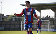 Will Hoare looks frustrated as another attack breaks down during the Final Third Development League match between U21 Crystal Palace and U21 Coventry City at Selhurst Park, London, England on 12 October 2015. Photo by Michael Hulf.