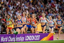 13-08-2017 IAAF World Championships Athletics day 10, London<br /> Sifan Hassan NED heeft haar medaille. Brons op de 5000 meter en Susan Krumin wordt achtste.
