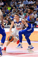 Real Madrid's Jaycee Carroll and Anadolu Efes's Brandon Paul during Turkish Airlines Euroleague match between Real Madrid and Anadolu Efes at Wizink Center in Madrid, April 07, 2017. Spain.<br /> (ALTERPHOTOS/BorjaB.Hojas)