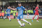 Liam Donnelly (Hartlepool United) during the EFL Sky Bet League 2 match between Hartlepool United and Carlisle United at Victoria Park, Hartlepool, England on 14 April 2017. Photo by Mark P Doherty.