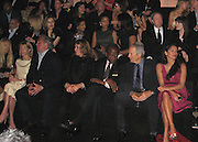 Graydon Carter and wife, Sidney Poitier, Clint Eastwood and wife.Giorgio Armani Prive Fashion Show in L.A..Ron Burkle Green Acres Estate.Beverly Hills, California, USA.Saturday, February 24, 2007.Photo By Celebrityvibe; .To license this image please call (212) 410 5354 ; or.Email: celebrityvibe@gmail.com ;.