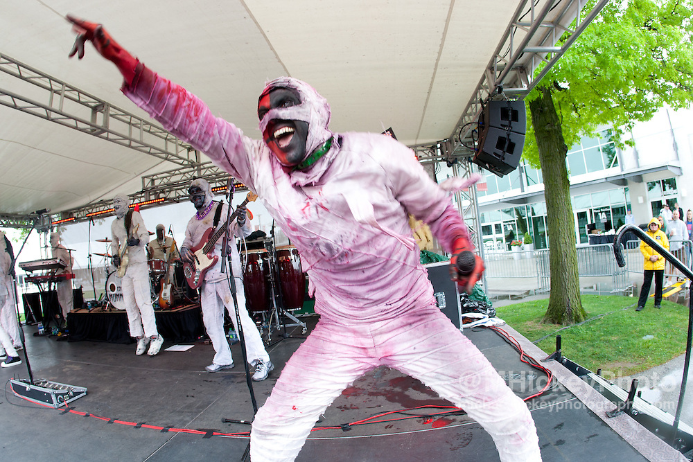 Here Come the Mummies perform at the Indianapolis Motor Speedway on May 15, 2011.<br /> <br /> Concert Photography by Michael Hickey