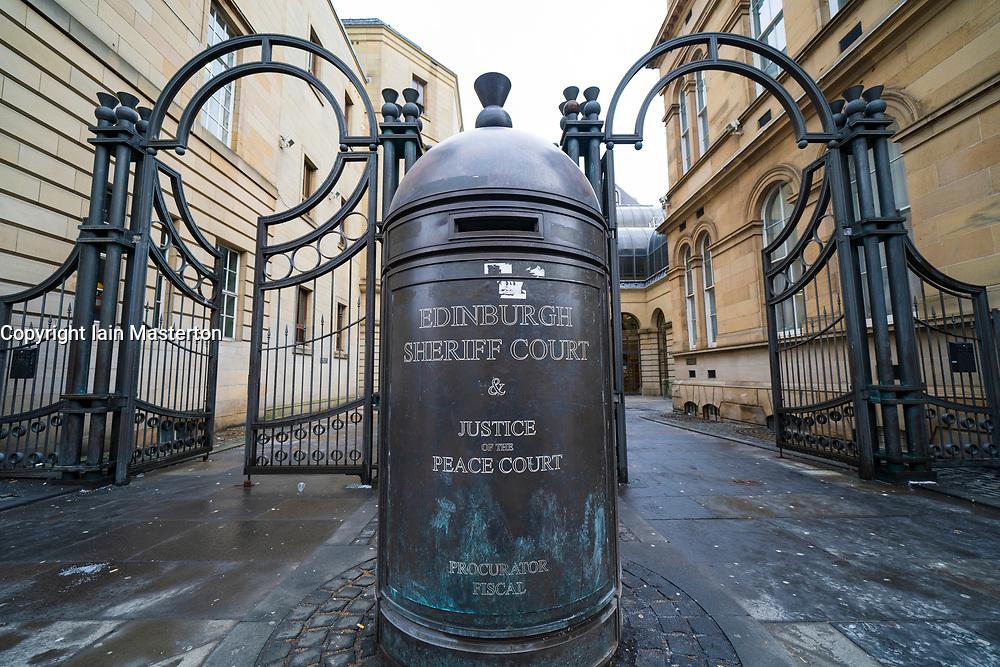 Exterior of Edinburgh Sheriff Court on Chambers Street in Edinburgh, Scotland, UK