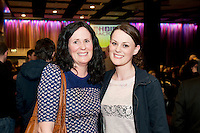 Sile and Orla Ni Chonghaile from Claregalway  at the Radisson Blu Hotel for Galway 1st ever Choir Factor in aid of Kilcuan Retreat and Healing Centre in Clarinbridge, Co. Galway . The event organised by the Corrib Lions Club was won by the Marine Institute Choir directed by Carmel Dooley. Picture:Andrew Downes