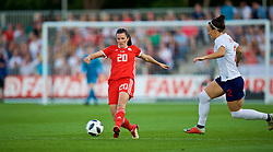 NEWPORT, WALES - Friday, August 31, 2018: Wales' Helen Ward during the FIFA Women's World Cup 2019 Qualifying Round Group 1 match between Wales and England at Rodney Parade. (Pic by David Rawcliffe/Propaganda)