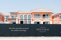 Billboard at new luxury villas for sale on Palm Jumeirah in Dubai , UAE, united Arab Emirates