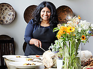 Chef Asha Gomez of Atlanta's wildly popular Cardamom Hill restaurant.