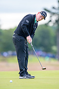 Robert MacIntyre (SCO) putts on the 11th green during the second round of the Aberdeen Standard Investments Scottish Open at The Renaissance Club, North Berwick, Scotland on 12 July 2019.