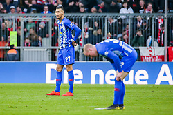 23.02.2019, Allianz Arena, Muenchen, GER, 1. FBL, FC Bayern Muenchen vs Hertha BSC, 23. Runde, im Bild v.li. Davie Selke (Hertha BSC Berlin) und Dennis Jastrzembski (Hertha BSC Berlin) unzufrieden // during the German Bundesliga 23th round match between FC Bayern Muenchen and Hertha BSC at the Allianz Arena in Muenchen, Germany on 2019/02/23. EXPA Pictures © 2019, PhotoCredit: EXPA/ Eibner-Pressefoto/ Tom Weller<br /> <br /> *****ATTENTION - OUT of GER*****