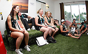 NZ athletes in the team lounge. Media visit to the Games Village. XIX Commonwealth Games, New Delhi, India. Friday 1st September 2010 September 2010. Photo: Simon Watts / photosport.co.nz
