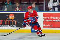 KELOWNA, BC - MARCH 13: Jake McGrew #8 of the Spokane Chiefs warms up on the ice against the Kelowna Rockets at Prospera Place on March 13, 2019 in Kelowna, Canada. (Photo by Marissa Baecker/Getty Images)