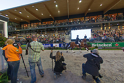 Photographers during prizegiving <br /> CDIO5 Grand Prix Freestyle <br /> CHIO Rotterdam 2014<br /> © Dirk Caremans