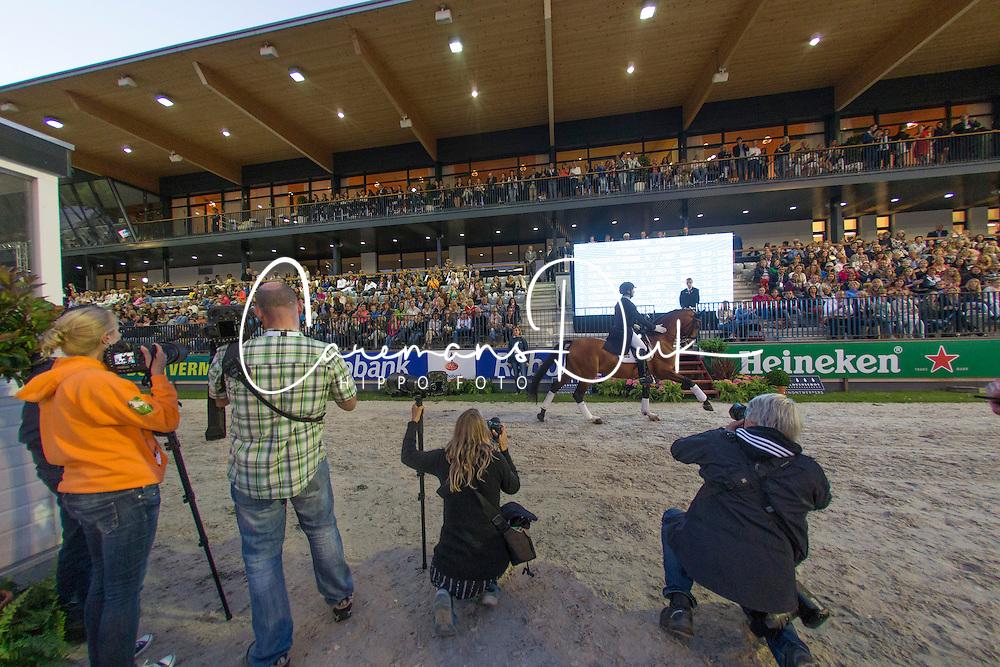 Photographers during prizegiving <br /> CDIO5 Grand Prix Freestyle <br /> CHIO Rotterdam 2014<br /> © Dirk Caremans