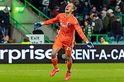 Karl-Johan Johnsson of FC Copenhagen celebrates his teams win during the Europa League match between Celtic and FC Copenhagen at Celtic Park, Glasgow, Scotland on 27 February 2020.