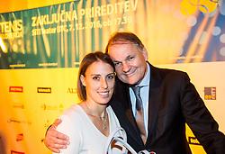 Andreja Klepac and Marko Umberger at Slovenian Tennis personality of the year 2016 annual awards presented by Slovene Tennis Association Tenis Slovenija, on December 7, 2016 in Siti Teater, Ljubljana, Slovenia. Photo by Vid Ponikvar / Sportida