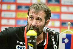 Veselin Vujovic, head coach of Slovenia after handball match between National teams of Slovenia and Denmark on Day 2 in Main Round of Men's EHF EURO 2018, on January 19, 2018 in Arena Varazdin, Varazdin, Croatia. Photo by Mario Horvat / Sportida