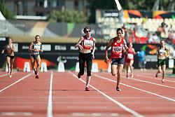GOUWS Liezel, TRUSHNIKOVA Evgeniya, RSA, RUS, 400m, T37, 2013 IPC Athletics World Championships, Lyon, France