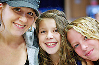 """Marie, Rheana and Janessa at breakfast during the first day of fifth grade Tuesday, Sept. 6, 2011 at Borah Elementary in Coeur d'Alene, Idaho. It was the first time Rheana gave us the """"brush off"""" on the first day of school. She was embarrassed that I was taking photos."""