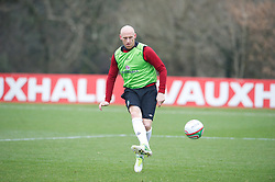 CARDIFF, WALES - Sunday, March 24, 2013: Wales' James Collins during a training session at the Vale of Glamorgan ahead of the 2014 FIFA World Cup Brazil Qualifying Group A match against Croatia. (Pic by David Rawcliffe/Propaganda)