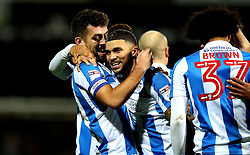 Tommy Smith of Huddersfield Town celebrates with Nahki Wells of Huddersfield Town after scoring a goal - Mandatory by-line: Robbie Stephenson/JMP - 02/02/2017 - FOOTBALL - John Smith's Stadium - Huddersfield, England - Huddersfield Town v Brighton and Hove Albion - Sky Bet Championship
