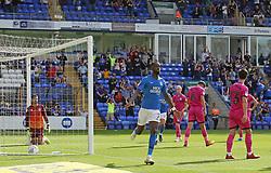 Mohamed Eisa of Peterborough United celebrates scoring his goal - Mandatory by-line: Joe Dent/JMP - 14/09/2019 - FOOTBALL - Weston Homes Stadium - Peterborough, England - Peterborough United v Rochdale - Sky Bet League One