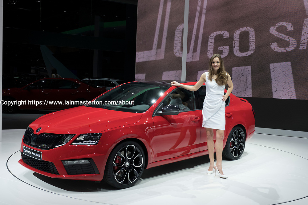 Octavia RS 245 by Skoda at 87th Geneva International Motor Show in Geneva Switzerland 2017