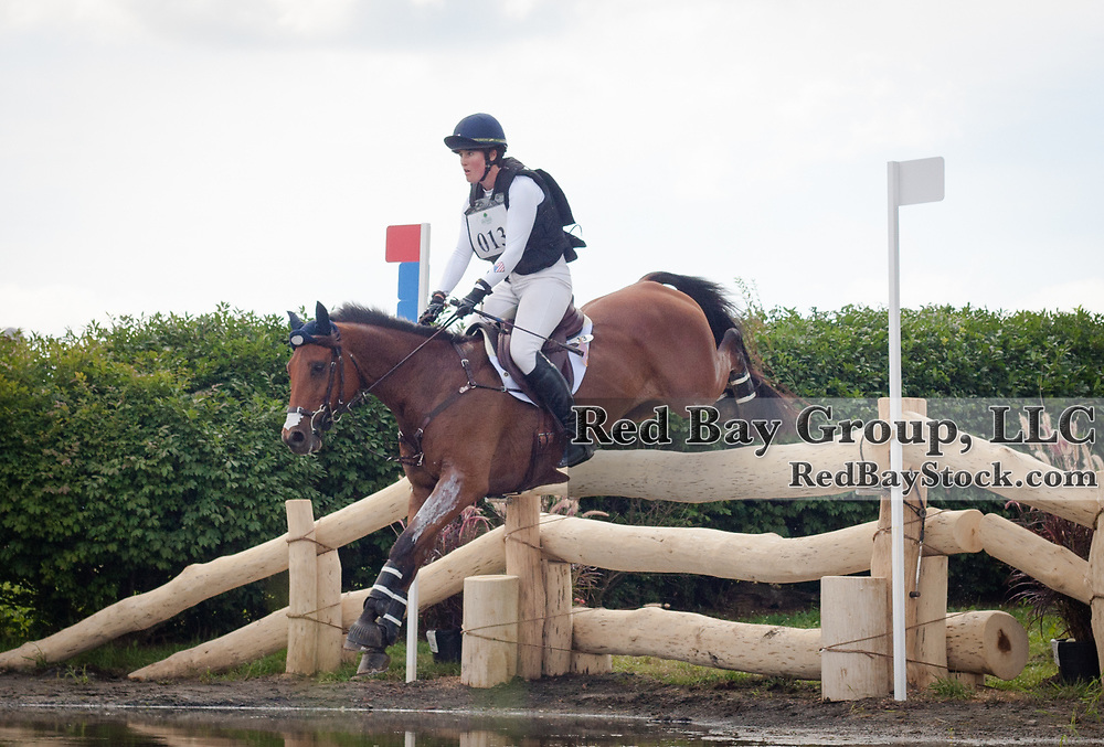 Maya Black riding Doesn't Play Fair competes in the Cross Country phase of the 2016 Land Rover Great Meadow International on Sunday, July 10, 2016, at the Great Meadow Foundation in The Plains, VA.