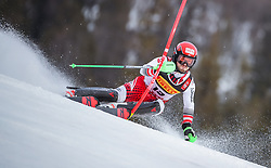 17.02.2019, Aare, SWE, FIS Weltmeisterschaften Ski Alpin, Slalom, Herren, 1. Lauf, im Bild Loic Meillard (SUI) // Loic Meillard of Switzerland in action during his 1st run of men's Slalom of FIS Ski World Championships 2019. Aare, Sweden on 2019/02/17. EXPA Pictures © 2019, PhotoCredit: EXPA/ Johann Groder