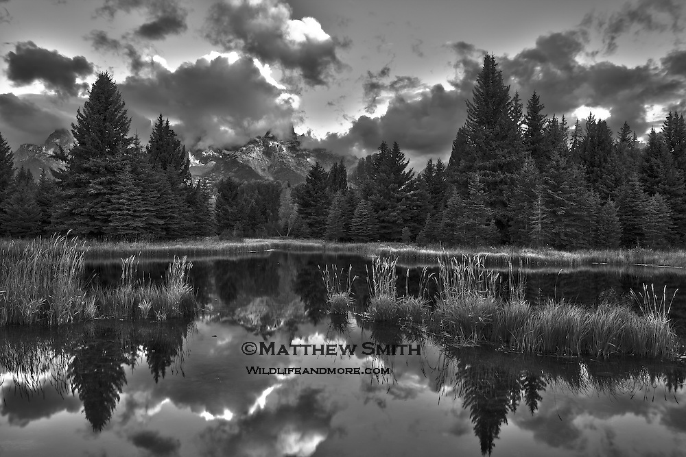 Schwabachlers Landing in black and white at Sunrise