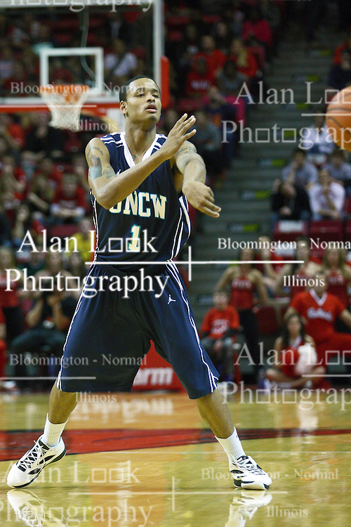 03 December 2011:  Donte Morales during an NCAA mens basketball game where the University of North Carolina at Wilmington Seahawks defeated the Illinois State Redbirds 63-54 inside Redbird Arena, Normal IL