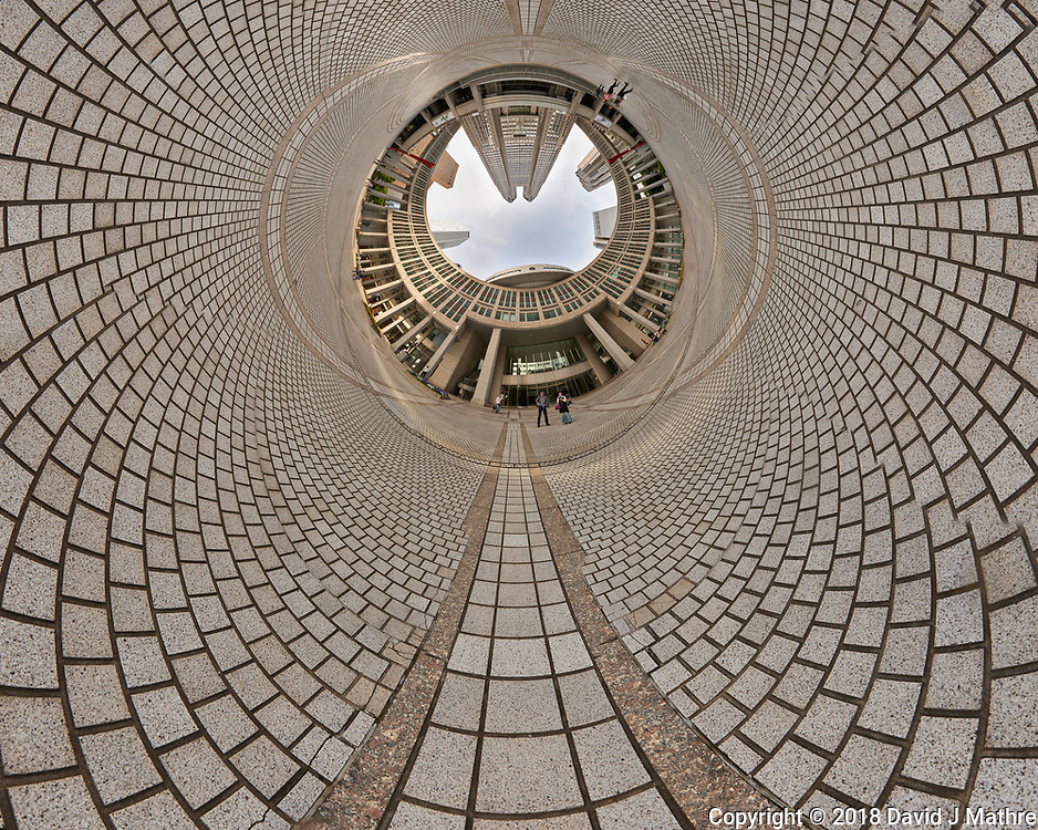 Afternoon Tunnel View of Citizen's Plaza and the Metropolitan Government Building. Composite of 45 images taken with a Leica CL camera and 11-23 mm wide-angle zoom lens (ISO 100, 11 mm, f/11, 1/60 sec). Raw images processed with Capture One Pro and AutoPano Giga Pro.