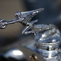 The hood ornament of a 1931 Packard
